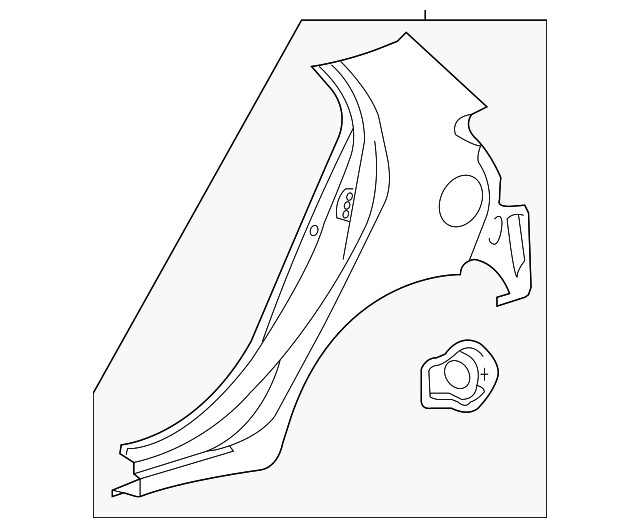 Quarter Panel - Toyota (61602-52480)