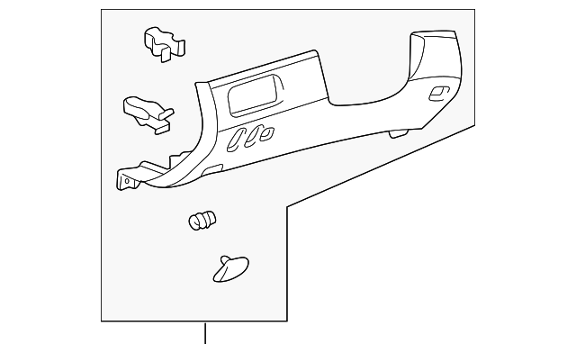 Lower Dash Panel - Toyota (55046-AE010-B0)