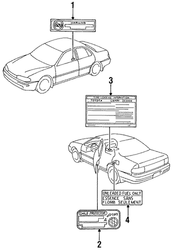 BODY/LABELS for 1996 Toyota Camry #1