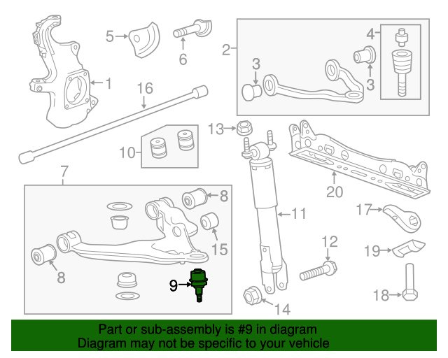 Lower Ball Joint - GM (19256656)