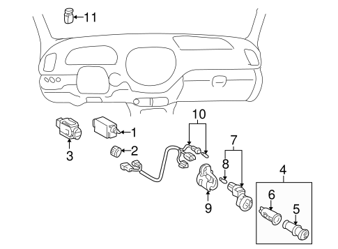 ELECTRICAL/HEADLAMP COMPONENTS for 2007 Toyota Sequoia #2