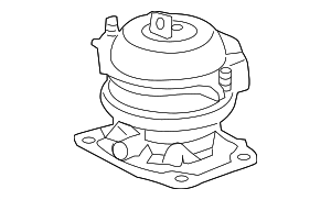 OEM Honda 50830-SZA-A02 - Rubber Assembly, Front Engine Mounting