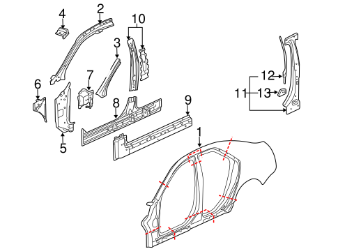 oem rocker for 2009 cadillac cts