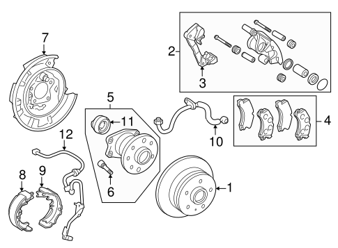 BRAKES/BRAKE COMPONENTS for 2012 Toyota Avalon #2