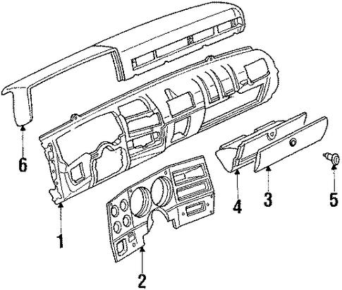 instrument panel for 1987 chevrolet r10  silverado