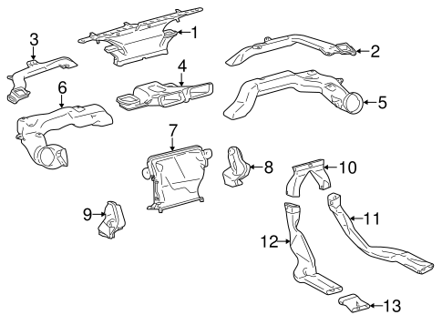 BODY/DUCTS for 2013 Toyota Prius C #1