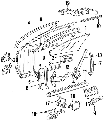 Choose The Tiers besides Window Part Diagram as well Distance Love Word Art also 1989 Jeep Steering Column Repair additionally How To Install Throttle Cable On 1989 Jeep Wrangler. on cat window hardware replacement parts
