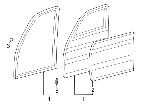 Door Shell - Toyota (67001-60591)