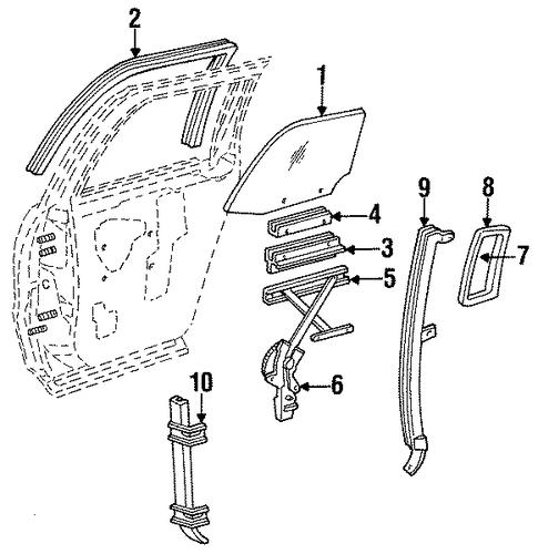 buy oem window regulator for 1995 cadillac fleetwood at