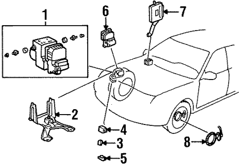ELECTRICAL/ABS COMPONENTS for 1999 Toyota Avalon #1