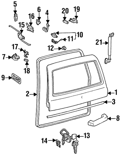 Link Assembly Bracket - Toyota (67206-60030)