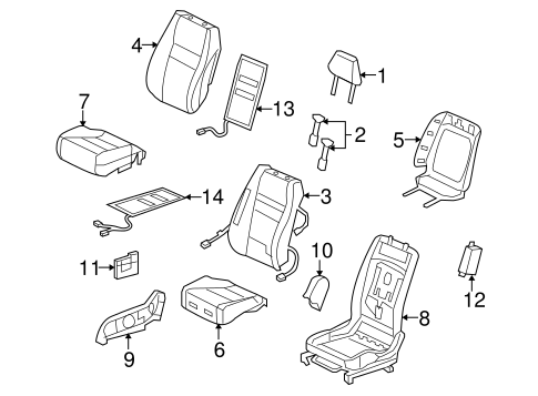 OEM Honda 81144-SDA-A01ZX - Headrest Guide
