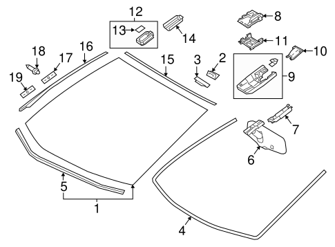 Windshield - Toyota (56101-4E956)