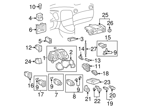 BODY/CLUSTER & SWITCHES for 2008 Toyota Matrix #1