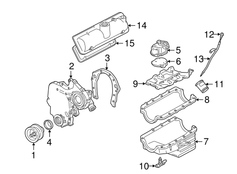 engine parts for 2001 chevrolet malibu