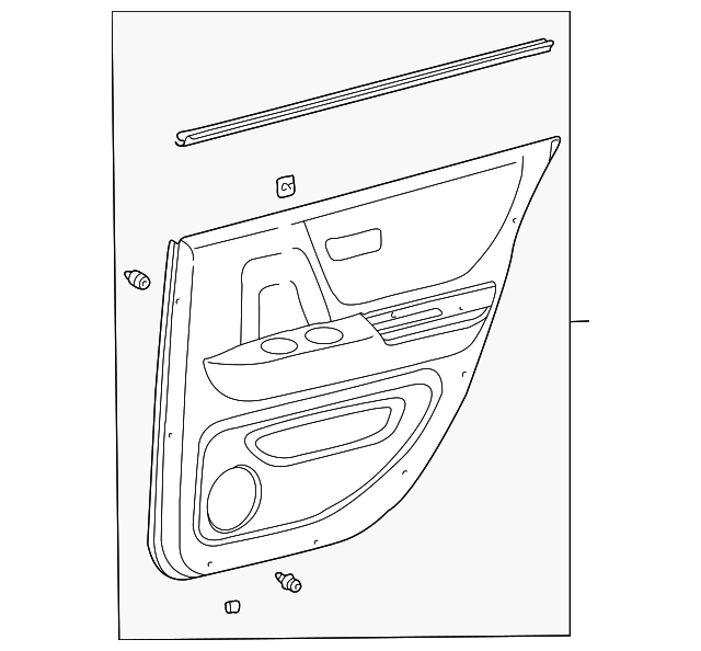 Door Trim Panel - Toyota (67630-48280-A1)