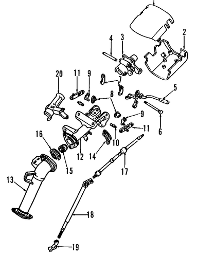 STEERING/STEERING COLUMN for 1996 Toyota Previa #1