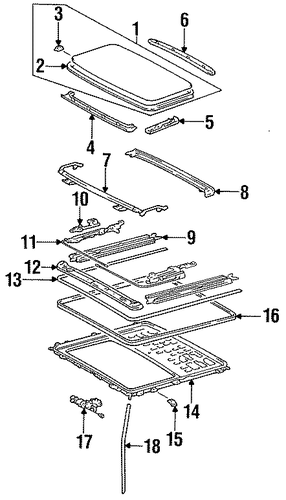 Guide Rail - Toyota (63208-20080)