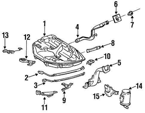 1990 Honda ACCORD COUPE LX Canister Assembly - (17300SE0A41)