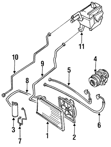 Watch as well Mazda Miata Engine Bay Wiring Diagram as well Mazda 626 Fuel Pump Location besides Condenser  pressor And Lines Scat furthermore Power Steering Return Line Hose Assembly Mpn 71131. on 1996 mazda miata engine diagram