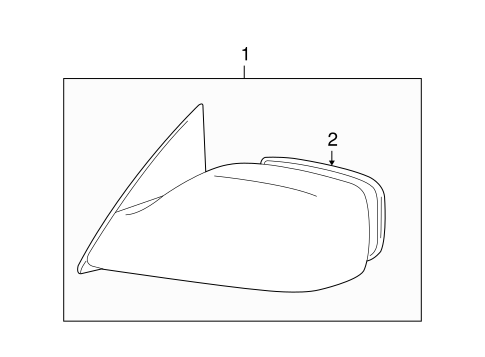 BODY/OUTSIDE MIRRORS for 2007 Toyota Avalon #1