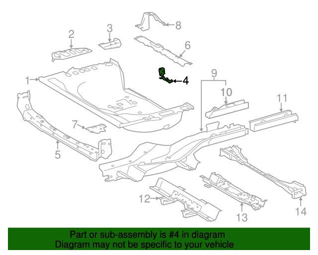 Front Extension - Toyota (58316-0R020)