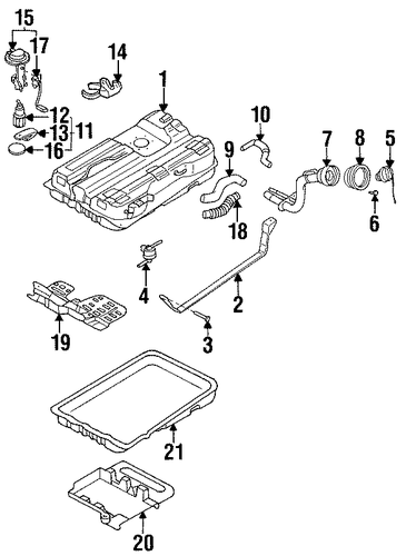 fuel system components for 1998 nissan quest