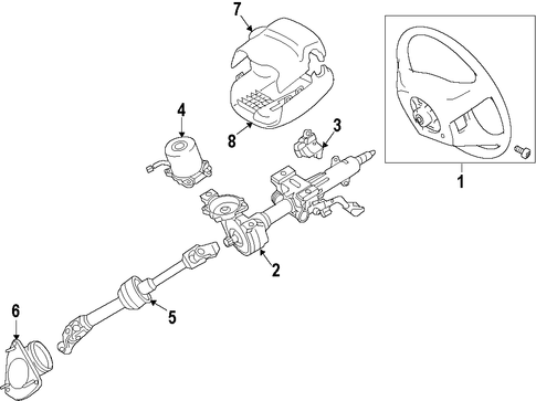 STEERING/STEERING COLUMN for 2015 Toyota Camry #1