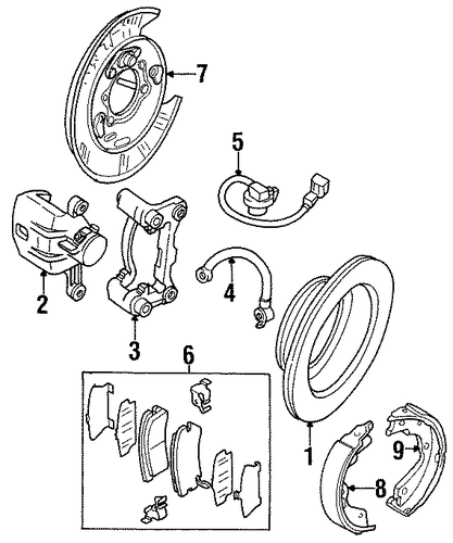 Park Brake Shoes - Honda (8-97120-760-0)