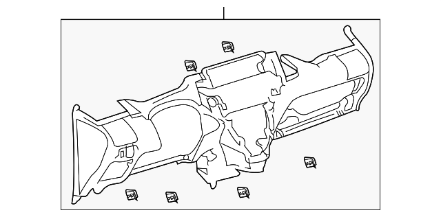 Instrument Panel - Toyota (55303-52161-B0)