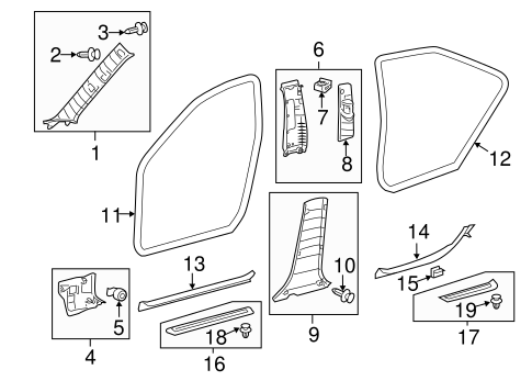 Weather-Strip On Body - Toyota (62311-06130-B0)