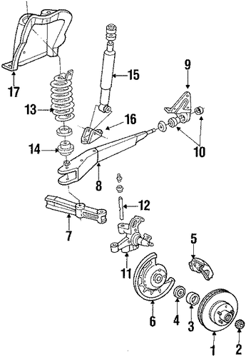 front suspension for 1985 ford f