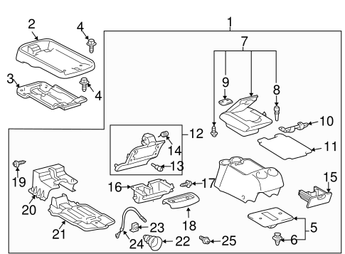 Console Assembly Box - Toyota (58811-AE010-B1)