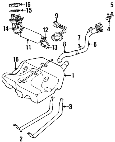 fuel system components for 1999 chrysler sebring