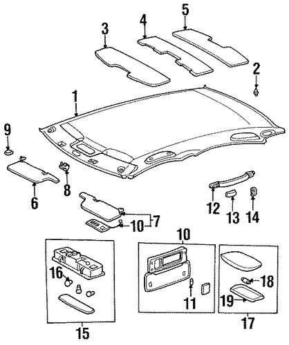 BODY/INTERIOR TRIM - ROOF for 1999 Toyota Avalon #2