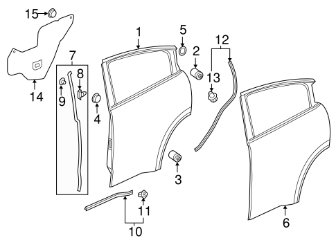 OEM Honda 91619-SE0-000 - Door Shell Seal