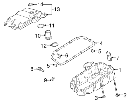 OEM Honda 95701-06045-08 - Thermostat Hsng Bolt