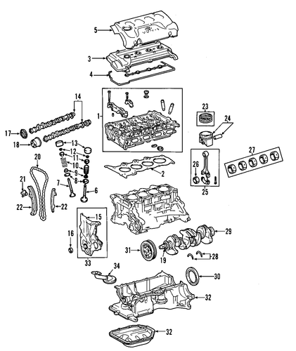 Crankshaft - Toyota (13401-0T031)