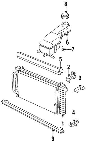 oem radiator  u0026 components for 1998 pontiac grand am