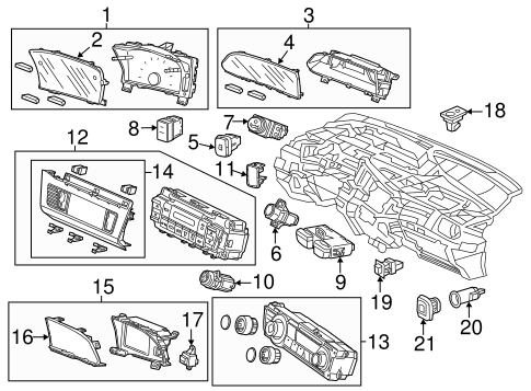 OEM Honda 35300-TA0-J01 - Switch Assembly, Vsa Off
