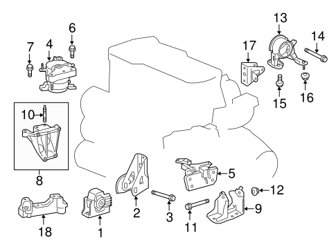 Rear Mount - Toyota (12371-36040)