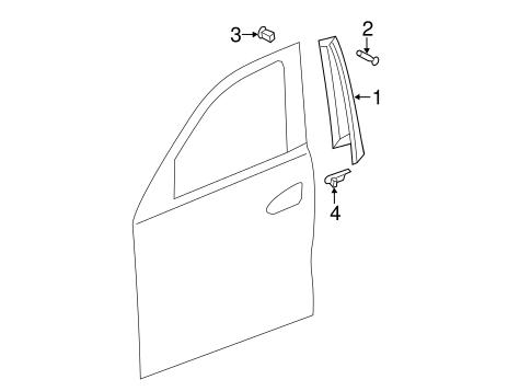 Exterior trim front door for 2012 mercedes benz ml350 for Mercedes benz exterior parts