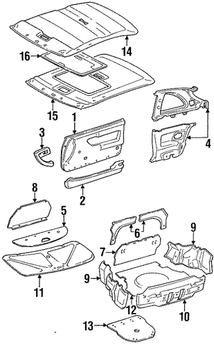 Door Trim - Toyota (67620-2G790-02)