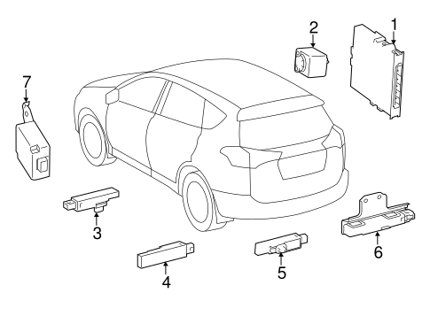 ELECTRICAL/KEYLESS ENTRY COMPONENTS for 2013 Toyota RAV4 #2