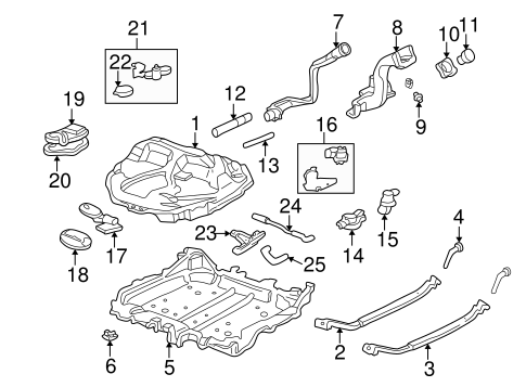 OEM Honda 17371-S02-L01 - Valve (Two-Way)