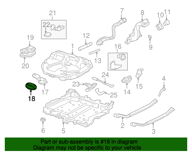1997 Honda CIVIC SEDAN LX (A/C) GASKET, BASE - (17574SV1L01)