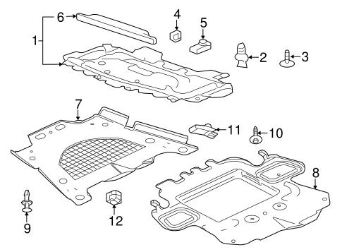 splash shields parts for 2011 cadillac cts. Black Bedroom Furniture Sets. Home Design Ideas