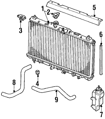 1987 Honda ACCORD SEDAN LX Radiator Comp - (19010PH1305)