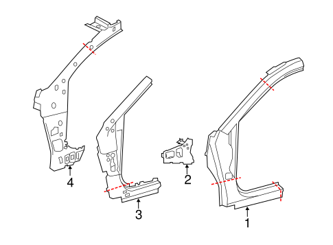 BODY/HINGE PILLAR for 2014 Toyota Avalon #1