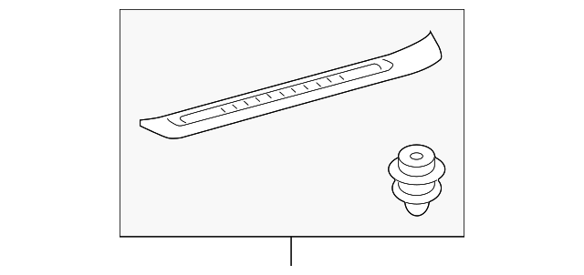 Front Sill Plate - Toyota (67911-0E070-C0)